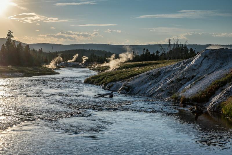 Firehole River at the Old Faithful geyser basin