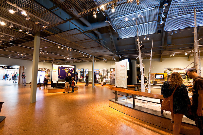 The new visitor center at Old Faithful