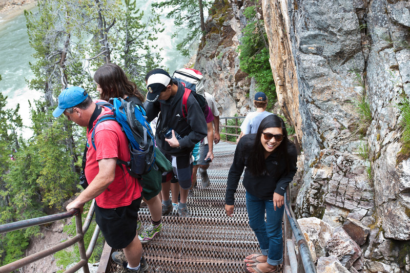 Uncle Tom's trail, Yellowstone canyon