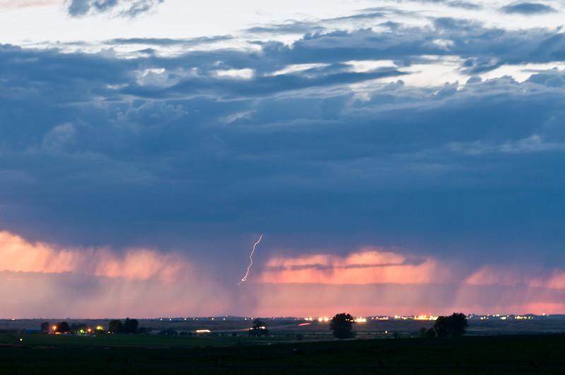 Heading home...lighting storm over Twin Falls, Idaho