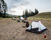 lower Hellroaring Creek campsite