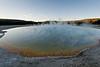 Sunset pool in Black Sand Basin, Yellowstone