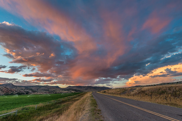 Sunset in the Beaverhead River valley