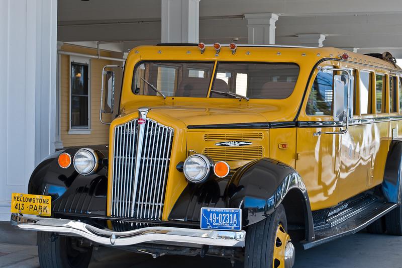 Classic Yellowstone tour bus