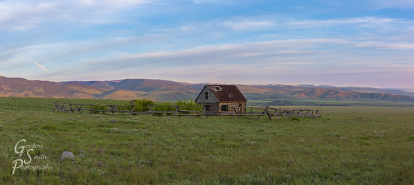 Gravely Mountain Range and Cabin