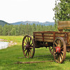Buckboard wagon...Seeley Lake, MT
