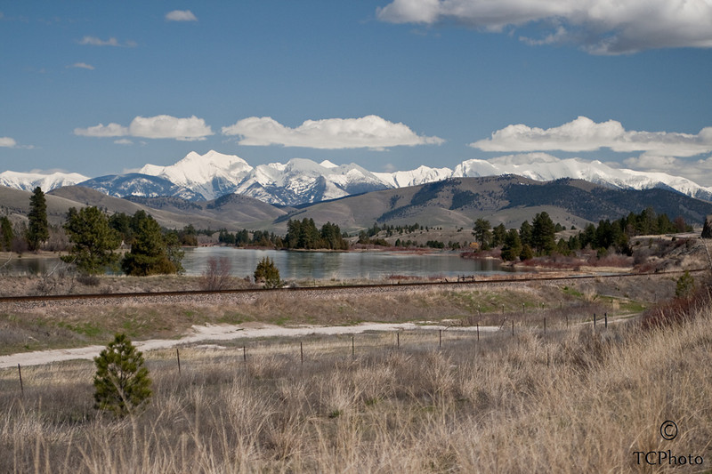 An April afternoon along Hwy 200.