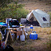 A Montana Elk camp is very comfortable. It's a great time for all the family to enjoy.