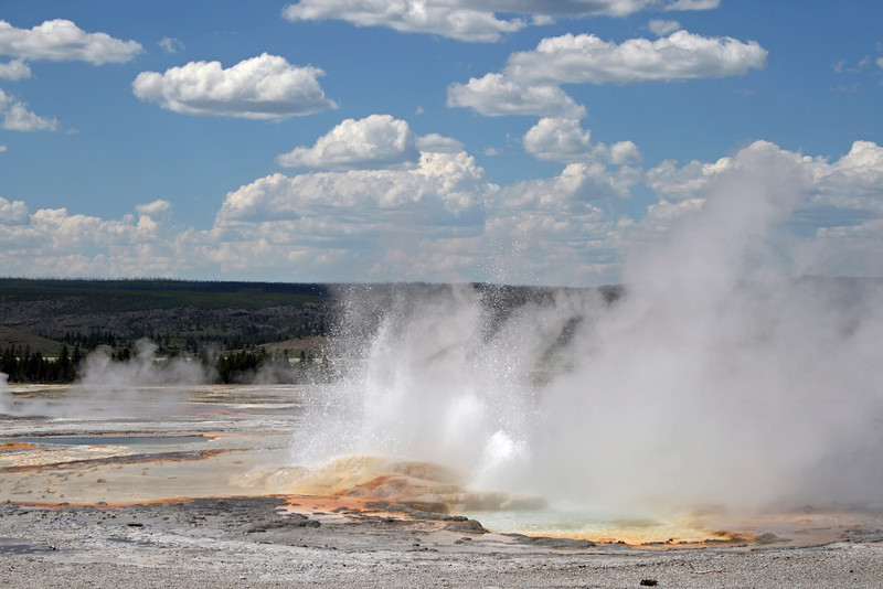 Geothermal spray at Yellowstone Park.