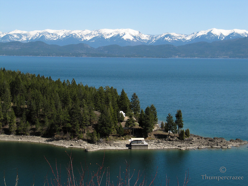 Flathead Lake and the Mission Mountains