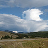 An unusual cloud formation along Hwy 191 just north of West Yellowstone, MT