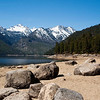 Rocky shore of Lake Como, Ravalli County, MT