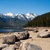 Rocky shore of Lake Como, Ravalli County, MT