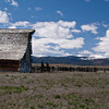 Barn and corral near Hot Springs, MT