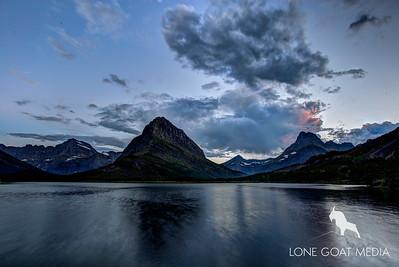 Sunset over Many Glacier