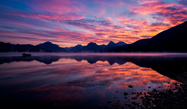 Fiery Reflections of Lake McDonald