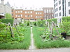 "Reproduction of 18th century vegetables garden,during the french regime, in ""Vieux Montréal"""