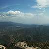 Panorama to the nort-west. On the left, Montserrat resort, in the centert, Valley of the River Llobregat