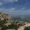 Panorama to the west. In the center, Montserrat Monastery and resort.