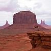 Navajo Horseman at John Ford Point