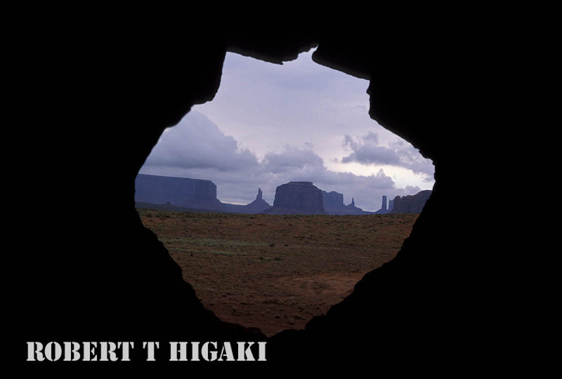 """monument valley- My guide wanted show us a hole in a rock. I said to myself, """"This is dumb- who wants to see a hole."""" Once, I saw this- I grabbed my camera."""