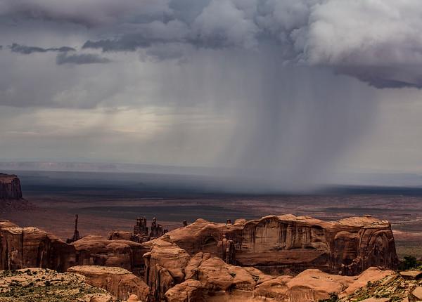 Rain showers from Hunt's Mesa