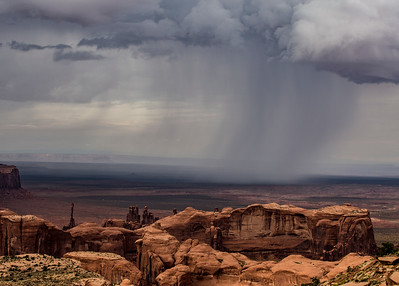Rain showers from Hunt's Mesa