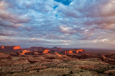 Monument Valley from Hunt's Mesa at Sunrise