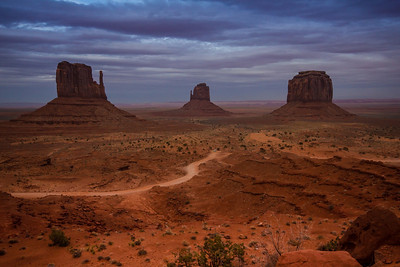 A room with a view for sure. Monument Valley from my 3rd floor hotel balcony after the clouds moved in.