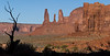 Three Sisters. In Navaho legend they are believed to be three people who were turned to stone.