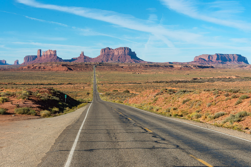 Hwy 163 SB into Monument Valley