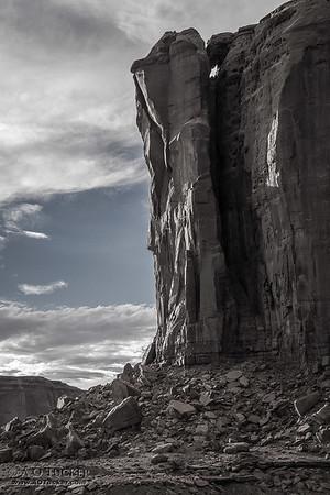 Light Breaking Thru The Butte