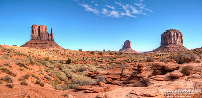 The famous Mittens of Monument Valley