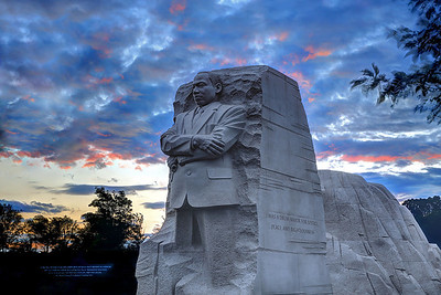 Here's a sunset image of the Martin Luther King Memorial.