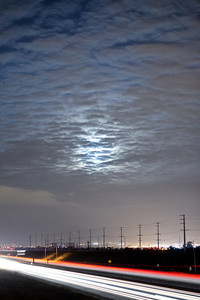 The Souther Ca (inland Empire) sky did allow for the best viewing opportunity on 3-19-2011