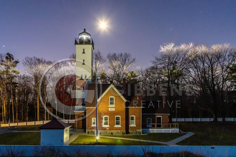 Presque Isle Light House Moon & Stars