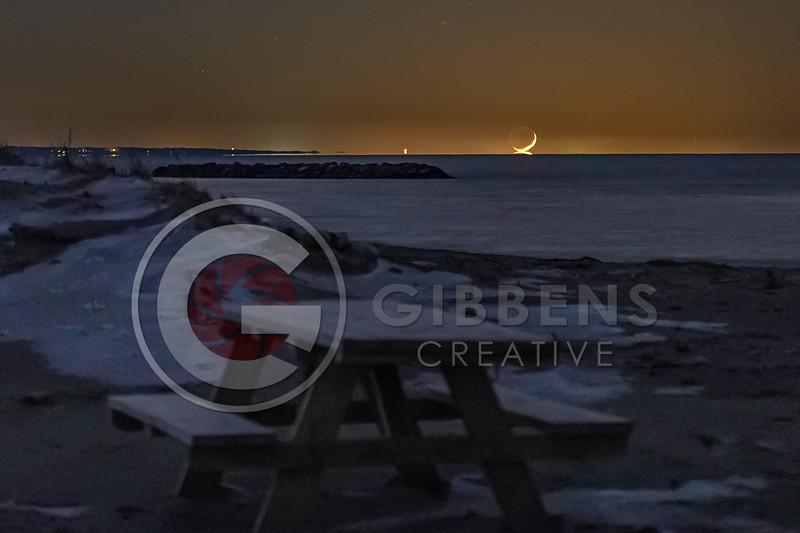Moon Set on Beach 8