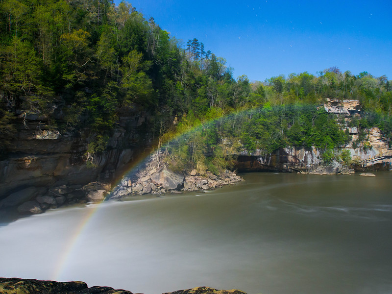 26 April 2013.  Moonbow at Cumberland Falls, Whitley County, Kentucky.