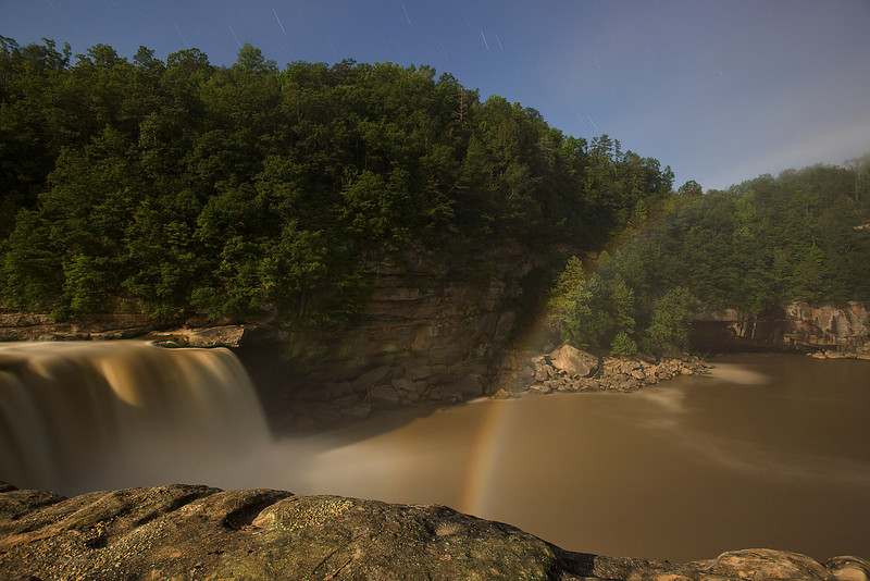 7 June 2009.  Midnight picture of a Moonbow, Cumberland Falls, Kentucky.