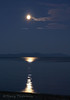 Moon rise over Strait of Georgia