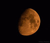 Moon in the smoke from forest fires