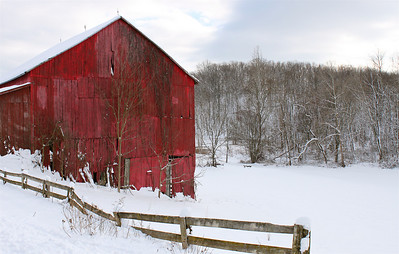 Old red barn, Morgan County, WV