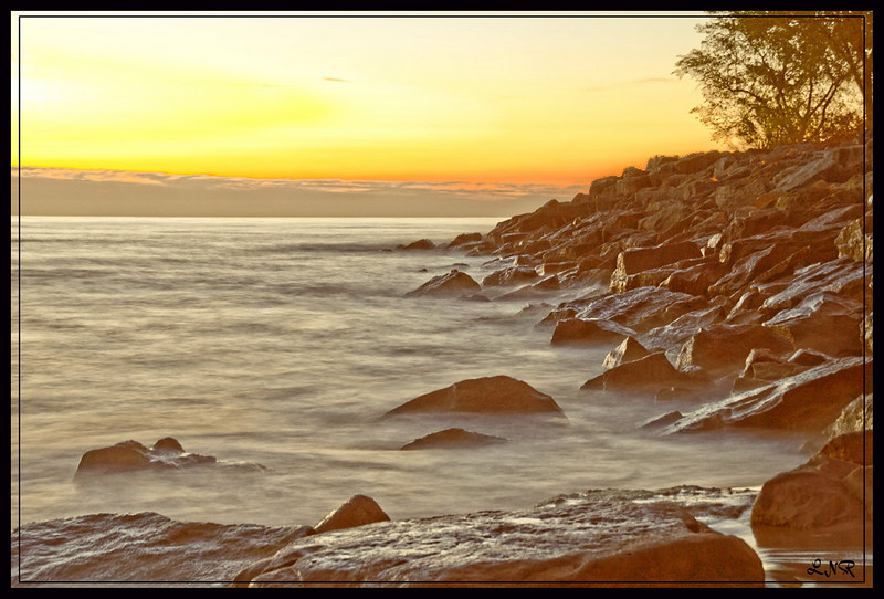 from the north shore of Lake Ontario in the morning
