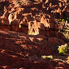 A panorama view of the dramatic 'Monkey's Fingers' rock formation in the Dades Valley.