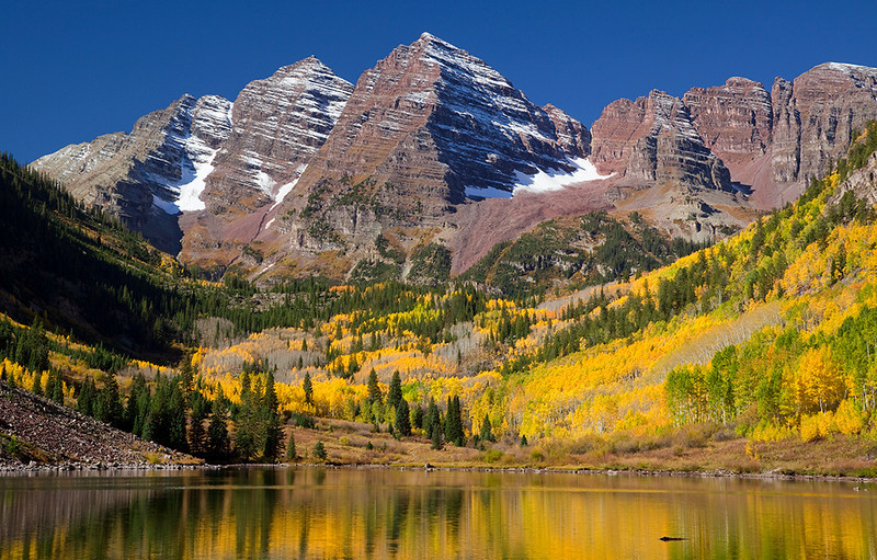 (MB-10242)  Maroon Bells near Aspen, Colorado.