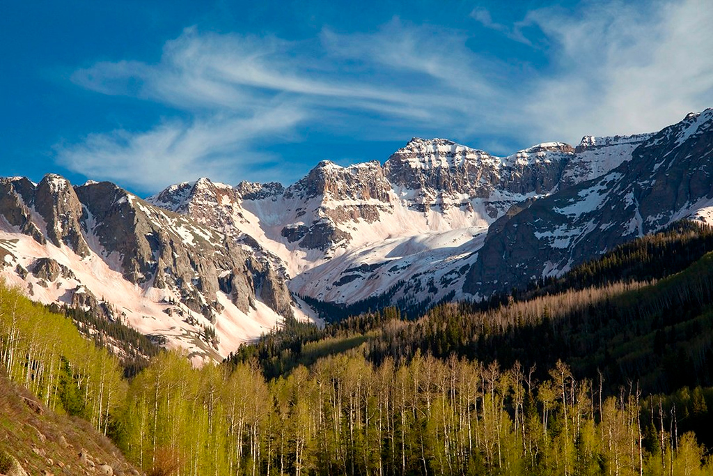 (SN-10107)  Dallas Peak - Sneffels Range, Colorado.
