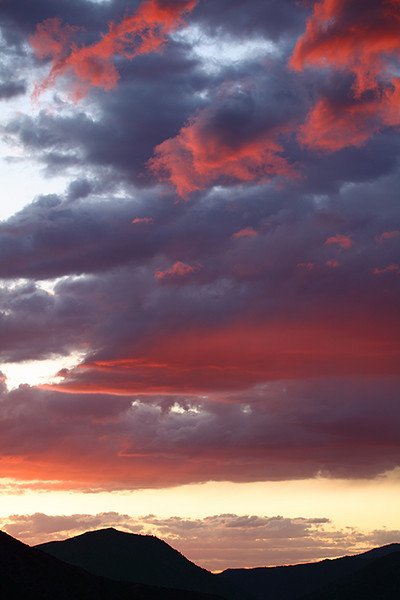 (MB-09011)  Sunset sky near Snowmass, Colorado.