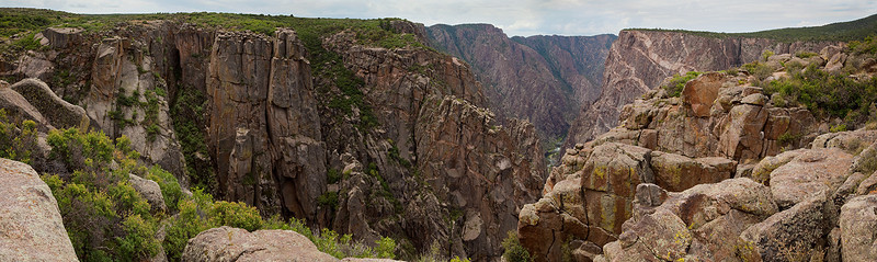 Black Canyon Panorama 1 - Black Canyon of the Gunnison Nat'l Park, Colorado.