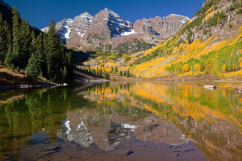 (MB-10203)  Maroon Bells near Aspen, Colorado