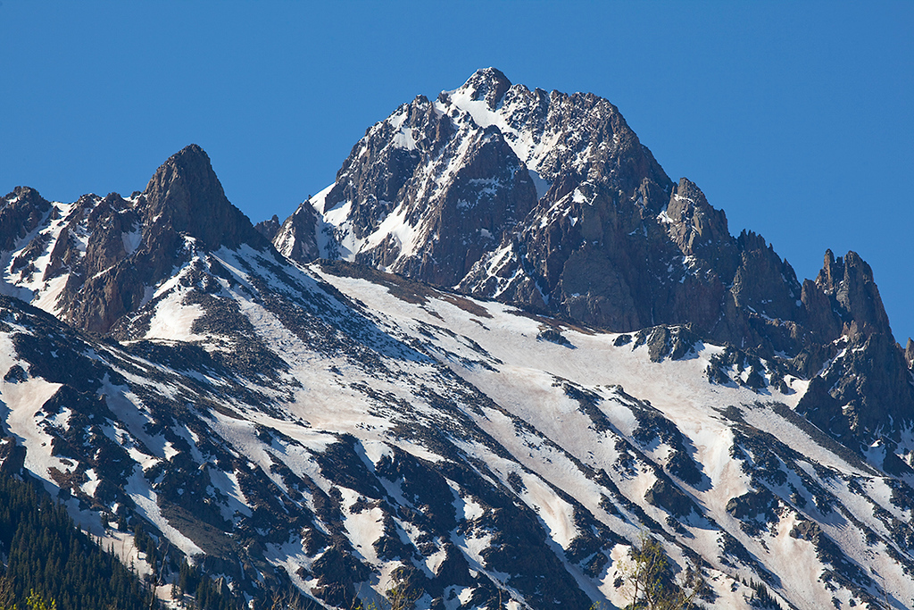(SN-10060)  Summit rock of Mt. Sneffels - Colorado.